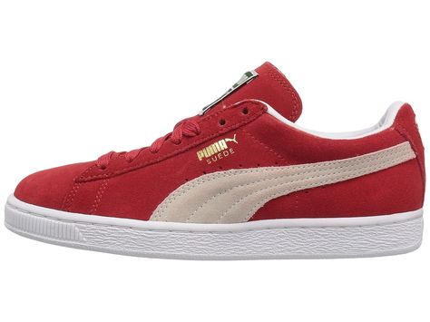 PUMA Suede Classic Women s Shoes High Risk Red White in 2018  31846b9e85