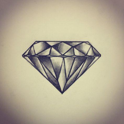 diamond tattoo on back of left forearm