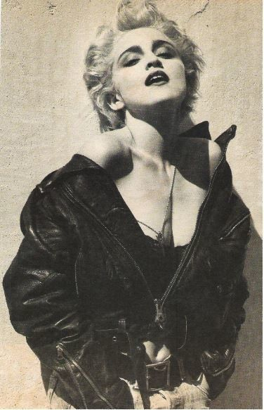 In Leather Jacket Unzipped Black Mostly Madonna vIYbfg76y