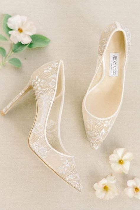 Most Wanted Wedding Shoes For Bride And Bridesmaids ★ wedding shoes lace ivory with heels liz fogarty shoes 24 Most Wanted Wedding Shoes For Party Wedding Shoes Bride, White Wedding Shoes, Lace Bride, Wedding Shoes Heels, Bride Shoes, Wedding Bridesmaids, Wedding Dresses, Cinderella Wedding Shoes, Wedding Jewelry For Bride
