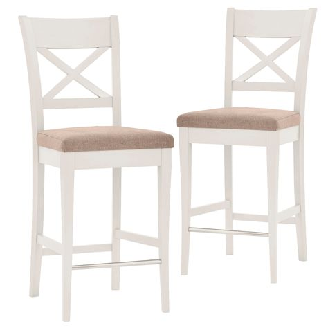 Groovy Emilia French Provincial Cross Back Bar Stools Set Of 2 Ibusinesslaw Wood Chair Design Ideas Ibusinesslaworg