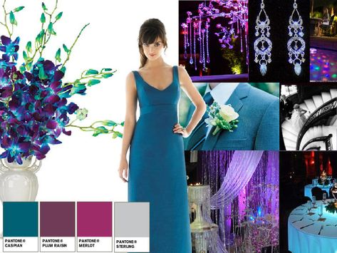 Blue Orchid : PANTONE WEDDING Styleboard : The Dessy Group