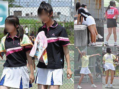 女子テニス部のスコート画像とアンダースコート アンスコ画像jcの本物 スコート バドミントン部 テニス部