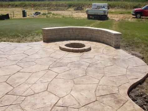 Perfect Stamped Cement Patio Good Design With Concrete