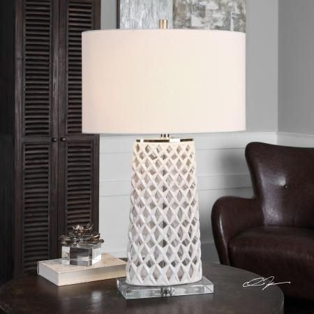 Found It At Clockway Com Dania White Table Lamp Lut6055 White Table Lamp Ceramic Table Lamps Table Lamp