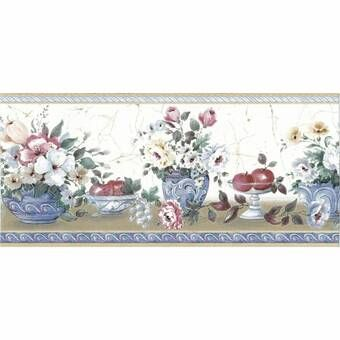 Bungalow Rose Swinson Vintage Flower Soft Blossom Texture Wall Mural Wayfair Floral Wallpaper Border Wallpaper Border Wallpaper