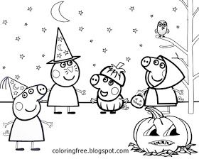 Free Coloring Pages Printable Pictures To Color Kids Drawing Ideas Cartoon Peppa Pi Peppa Pig Coloring Pages Peppa Pig Colouring Free Halloween Coloring Pages