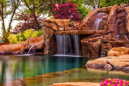 beautiful flower gardens waterfalls enchanting pinterest - Beautiful Flower Gardens Waterfalls