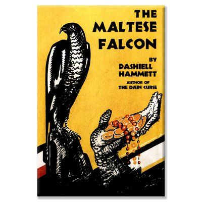The Maltese Falcon Graphic Art On Wrapped Canvas The Maltese Falcon Book Dashiell Hammett Maltese