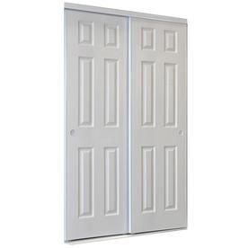 Reliabilt 9205c Series White 6 Panel Steel Sliding Closet Door Hardware Included Common 72 In X 96 In Sliding Closet Doors Sliding Door Hardware Closet Doors