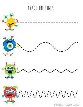 Pin On Early Learning Activities For Literacy Free tracing worksheets for year olds