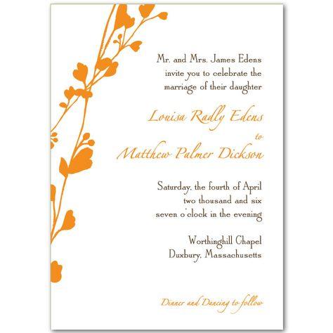 Free Downloadable Wedding Invitations Orange Wedding