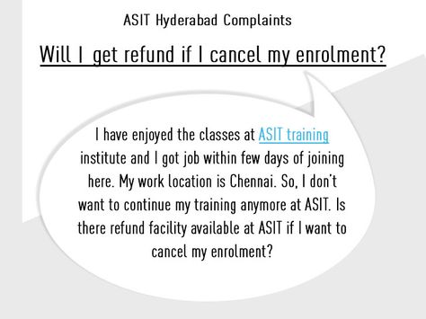 Complaint Why ASIT fee structure is costlier than other training - training agreement