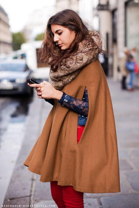 Women's Fashion Trends @36Boutiques — Winter Cape (minus the fur if its real)
