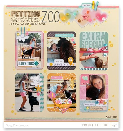Project Life meets layouts: Suzy Plantamura shares some ideas on using Project Life cards on layouts