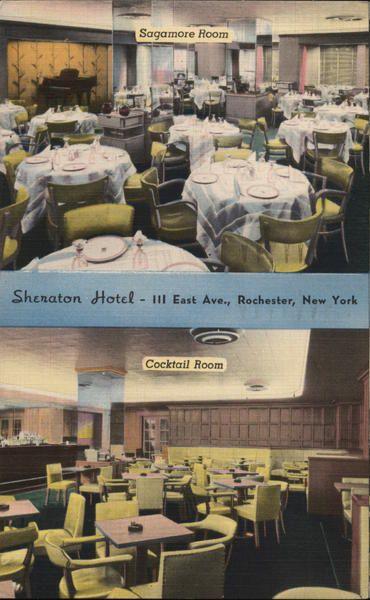 Linen Postcard Hotel Seneca Rochester NY