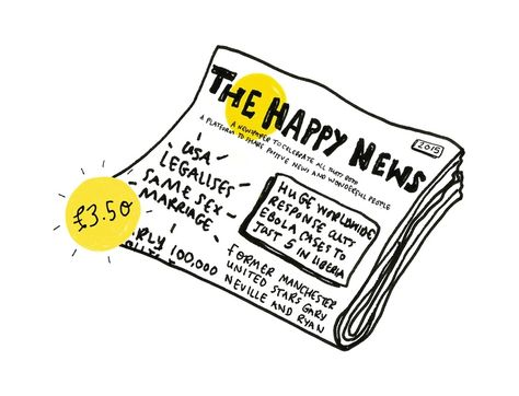 A newspaper to celebrate all that's good in the world. 'The Happy Newspaper' is a platform to share positive news and wonderful people.