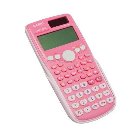 CASIO FX-85GT PLUS Pink Scientific Calculator ❤ liked on Polyvore featuring home, home decor, office accessories, school, accessories, filler, kawaii, misa, casio and casio calculator