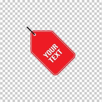 Tag Label Flat Icon For Business With Red White Vector Design Label Png And Vector With Transparent Background For Free Download Flat Icon Banner Vector Geometric Background