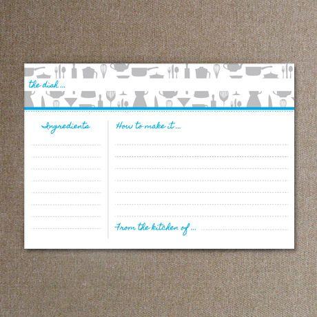 Recipe card templates - Made from scratch Digi Scrap - Recipe - free recipe card template for word