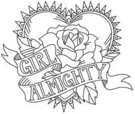 45 New Ideas For Embroidery Girl Power Awesome Tattoo Coloring Book Coloring Pages Cool Coloring Pages
