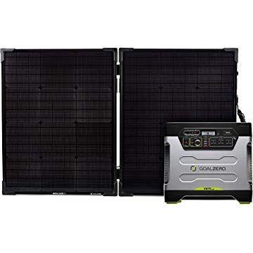 Amazon Com Goal Zero Yeti 1250 Solar Generator Kit With Boulder 100 Briefcase Solar Panel Garden O Solar Power House Solar Generator Solar Panels