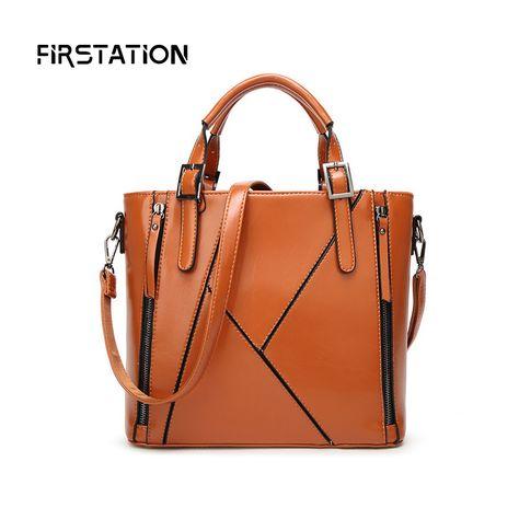 4cee0685e0c4 High Quality Luxury Handbags Women Bags Designer Wax Oil Leather Female  Shoulder Bags Patchwork Ladiy Messenger Bags Obag Wm0539
