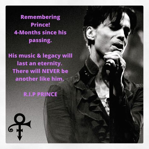 Remembering #prince 4-months since his passing. His #music & legacy will…