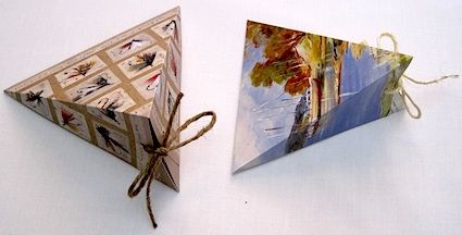 triangle boxes from cards