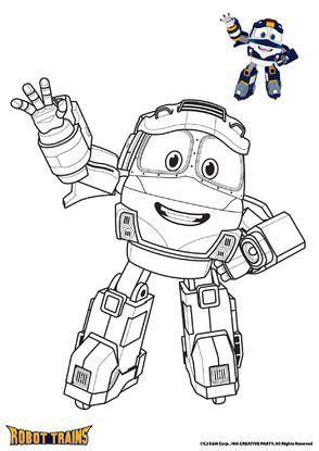 Kay Coloriage Robot Robot Train Et Coloriage