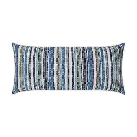 Fancy Navy Stripe Lumbar Indoor Outdoor Lux Pillow With Images Pillows Navy Pillows Beach Pillows