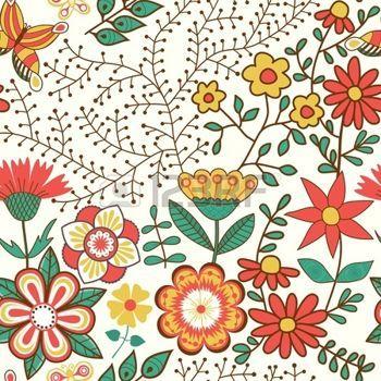 Floral Seamless Texture Infinite Di Fiori Vettore Sfondo Per La