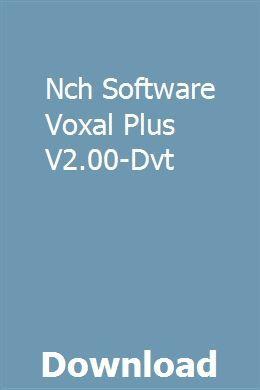 Nch Software Voxal Plus V2 00 Dvt Download Mocking Helix Line6
