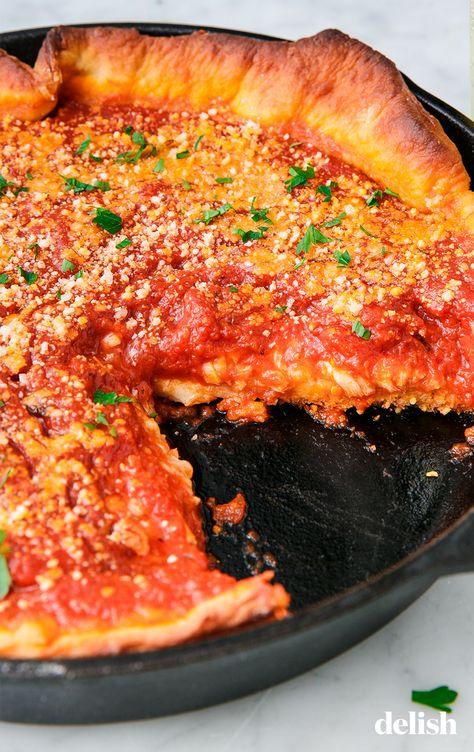 Deep Dish Pizza Recipe Deep Dish Pizza Recipe Pizza Recipes