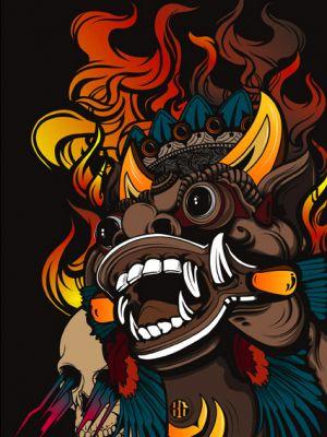 Vector Art Bali Barong Illustrator Vector Art Art Illustration Art