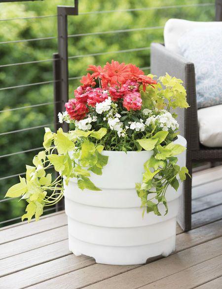 Gardener S Victory Self Watering Patio Planter Gardener S Supply