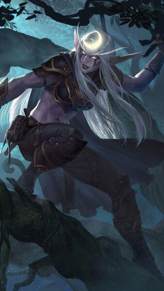 Elf Wow Fantasy Girl 4k Hd Mobile Smartphone And Pc Desktop Laptop Wallpaper 3840x2160 1920x108 Warcraft Art World Of Warcraft Characters Dark Fantasy Art