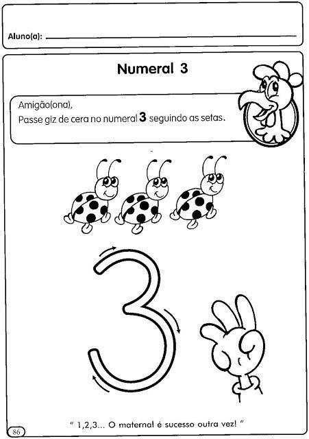 Atividades Para Educacao Infantil Numerais De 1 A 5 Espaco