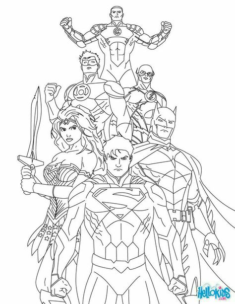 Free Justice League Coloring Pages - Enjoy Coloring Boys room - new print out coloring pages superheroes