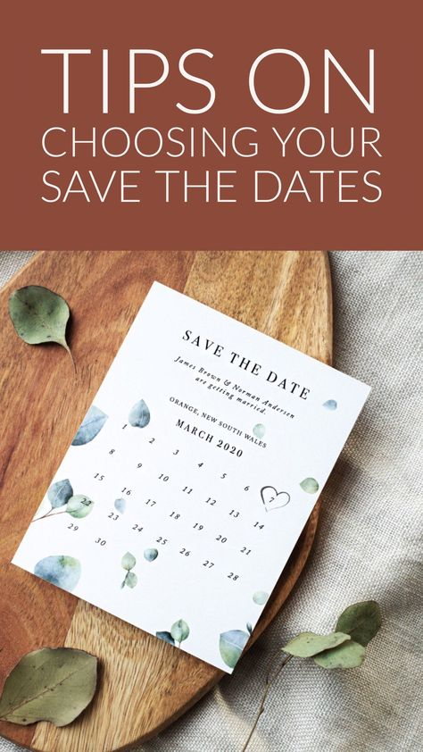 Tips on choosing your save the dates! Find the perfect invitations for your wedding. #savethedate #savethedates #weddinginvitations #weddingtips