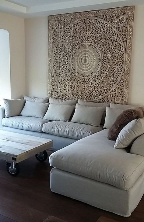 Rare White Washed Decorative Teak Wood King Bed Headboard | Etsy