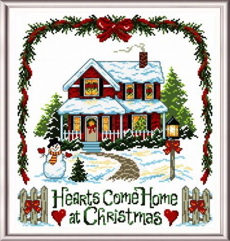 Cross Stitch Kit Home for Christmas