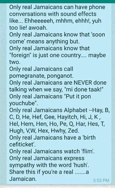 Jamaican flirt phrases