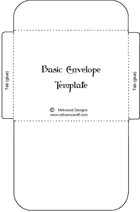 gift certificate envelope template