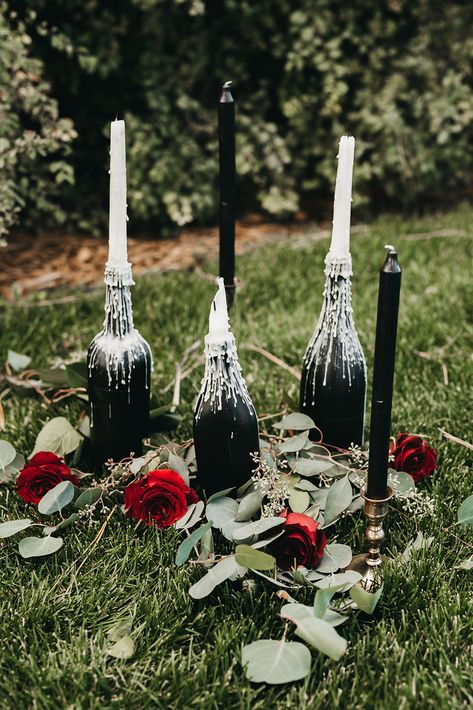 Vintage Gothic Glam Elopement via Couture Colorado wedding aesthetic Vintage Gothic Glam Elopement Gothic Wedding Decorations, Victorian Wedding Themes, Medieval Wedding, Gothic Wedding Ideas, Gothic Wedding Rings, Wedding Inspiration, Red Wedding, Fall Wedding, Wedding Vintage