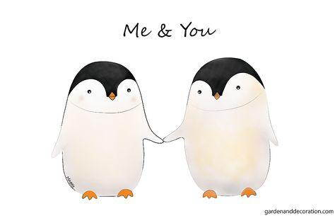 Cute penguin illustration - Garden & Decoration