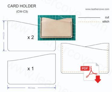 Leather Card Holder Pattern Cw C3 Leather Card Wallet Pattern Leather Wallet Pattern Leather Card Wallet
