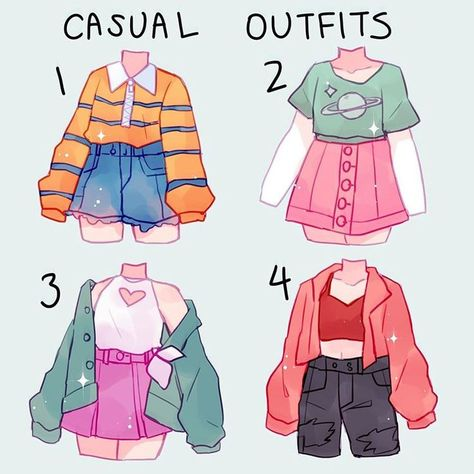 Cute Art Styles, Cartoon Art Styles, Fashion Design Drawings, Fashion Sketches, Kleidung Design, Drawing Anime Clothes, Manga Clothes, Jugend Mode Outfits, Clothing Sketches