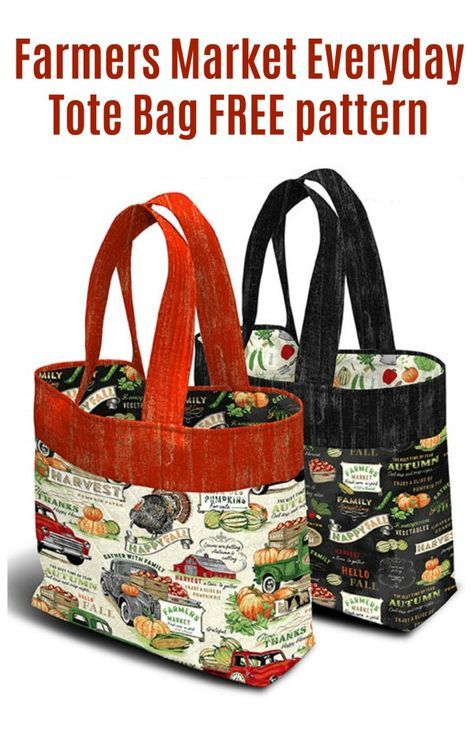 Farmers Market Everyday Tote Bag free pattern - Sew Modern Bags FREE sewing pattern for a market tote bag. This grocery bag sewing pattern creates a strong reusabl Bag Patterns To Sew, Tote Pattern, Sewing Patterns Free, Free Sewing, Easy Tote Bag Pattern Free, Wallet Pattern, Quilted Tote Bags, Patchwork Bags, Reusable Grocery Bags