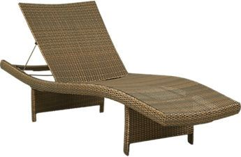 Luna Lake Brown Outdoor Chaise Outdoor Room Decor Outdoor